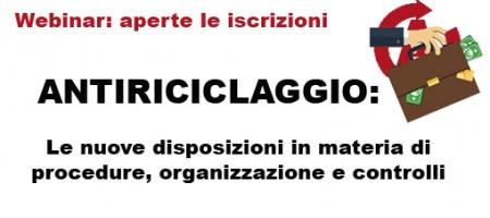 Antiriciclaggio: il nostro webinar sulle novità normative